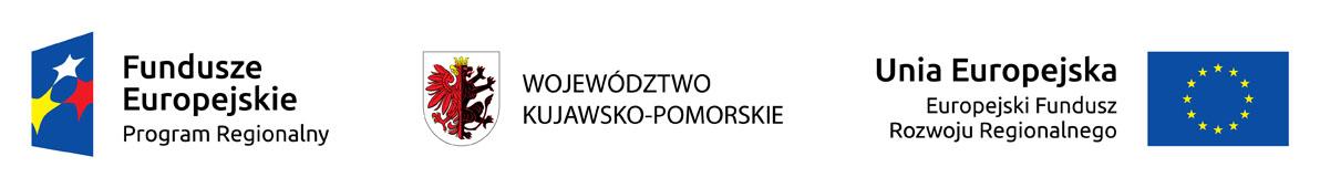 Logo Programów Regionalnych Funduszy Europejskich i herb województwa kujawsko-pomorskiego