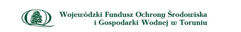 Logo Wojewódzkiego Funduszu Ochrony Środowiska i Gospodarki Wodnej w Toruniu