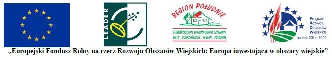 loga Unii Europejskiej, Stowarzyszenia Lokalnej Grupy Działania  i Programu Rozwoju Obszarów Wiejskich
