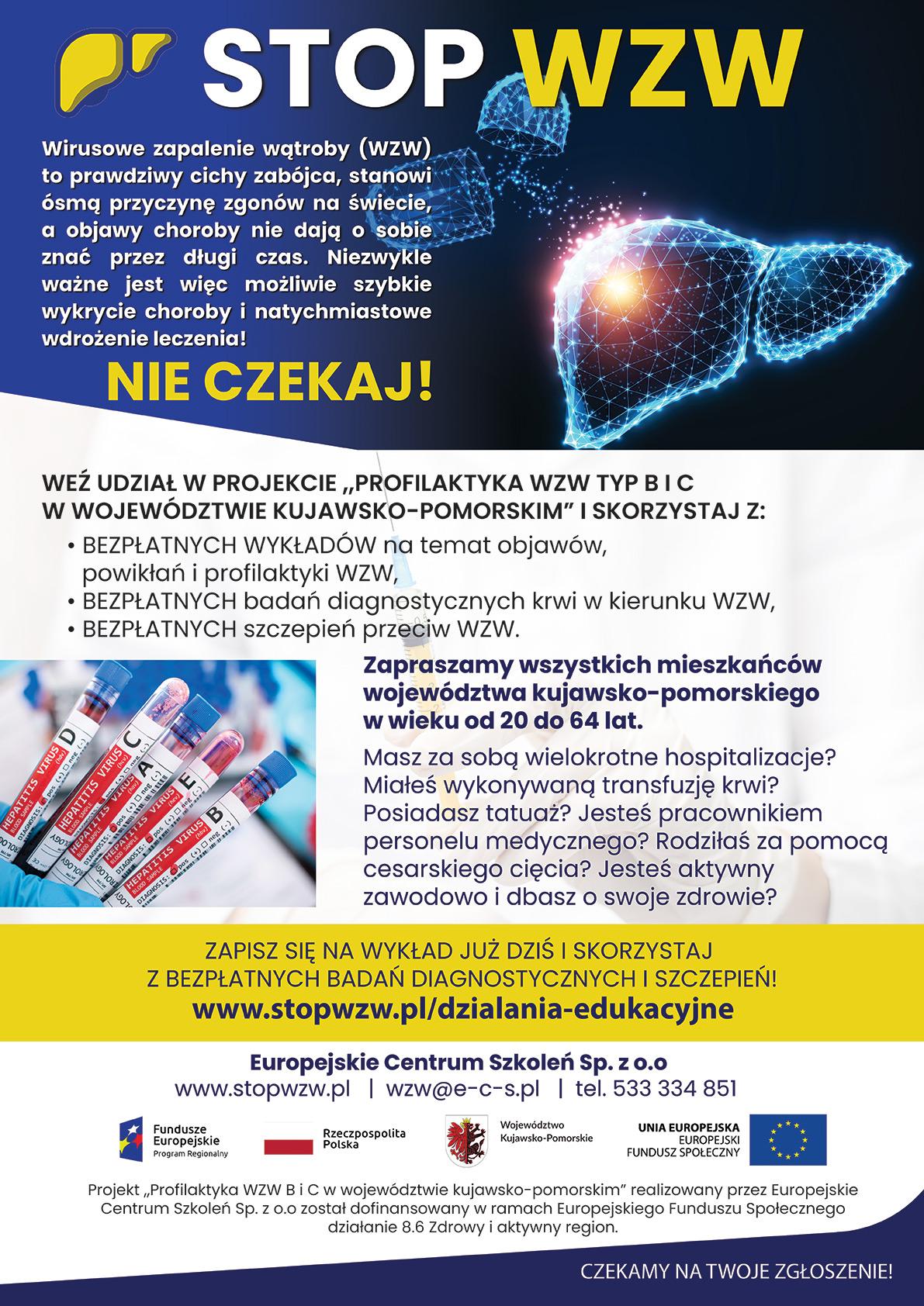Plakat z Informacją o projekcie pn.