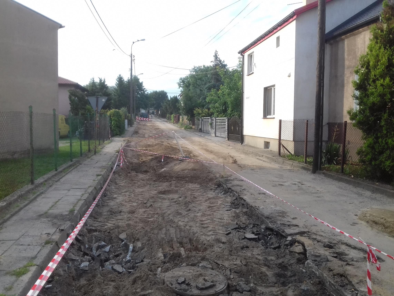 Remont ulicy Wspólnej w Lipnie