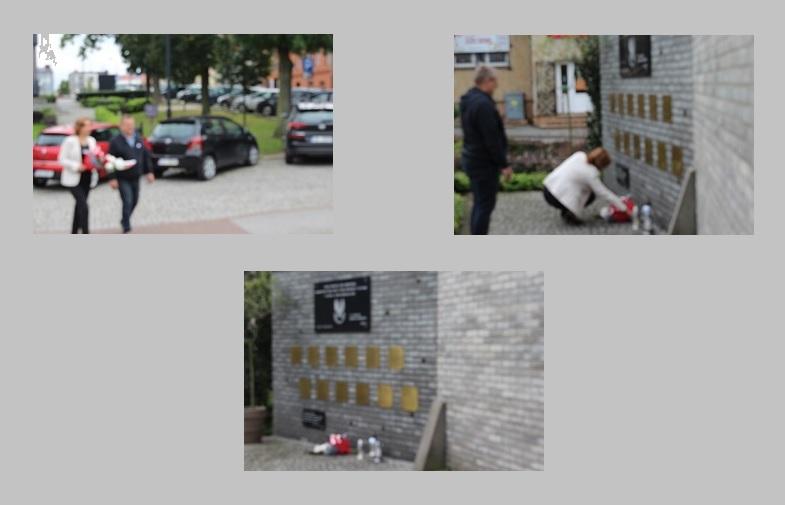 Przewodniczący Rady Miejskiej w Lipnie Grzegorz Koszczka oraz Zastępca Burmistrza Jolanta Zielińska złożyli kwiaty pod tablicą upamiętniającą ofiary zbrodni katyńskiej pochodzące z terenów ziemi dobrzyńskiej.